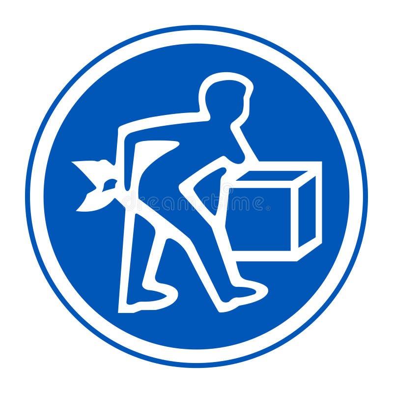 PPE? 恰当地举标志在白色背景,传染媒介例证EPS的标志孤立 10 向量例证