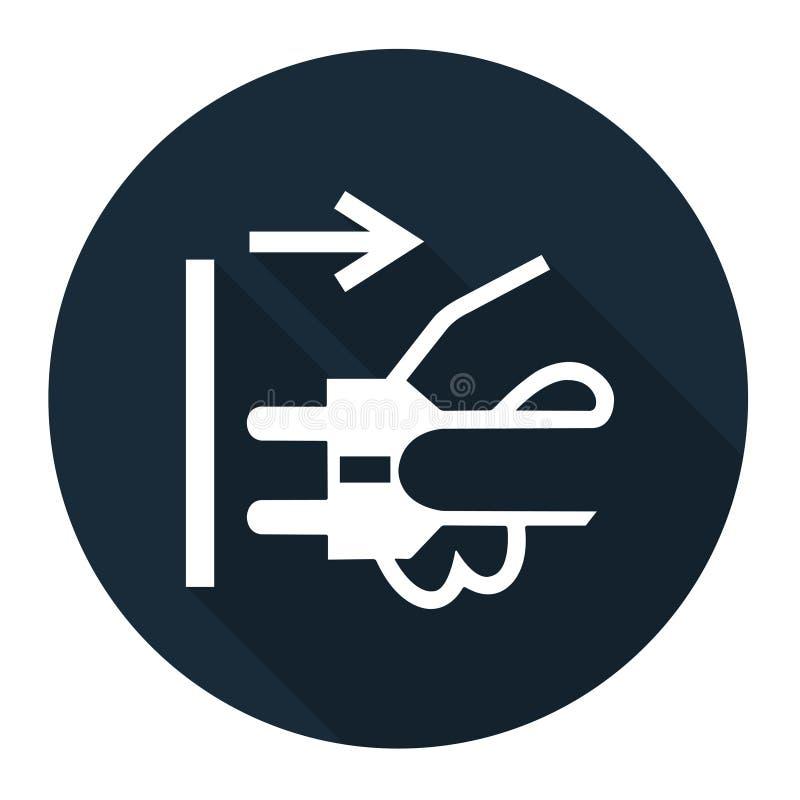 PPE? 断开主要从在白色背景,传染媒介例证EPS的电子出口标志标志孤立塞住 10 皇族释放例证