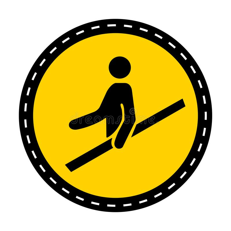 PPE? 用途扶手栏杆标志在白色背景,传染媒介例证的标志孤立 皇族释放例证