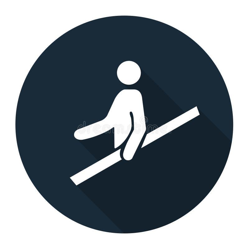PPE? 用途扶手栏杆标志在白色背景,传染媒介例证EPS的标志孤立 10 皇族释放例证