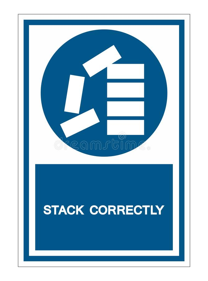 PPE Icon.Stack Correctly Symbol Sign Isolate On White Background,Vector Illustration EPS.10. Check, list, paper, form, work, notice, business, design, good royalty free illustration