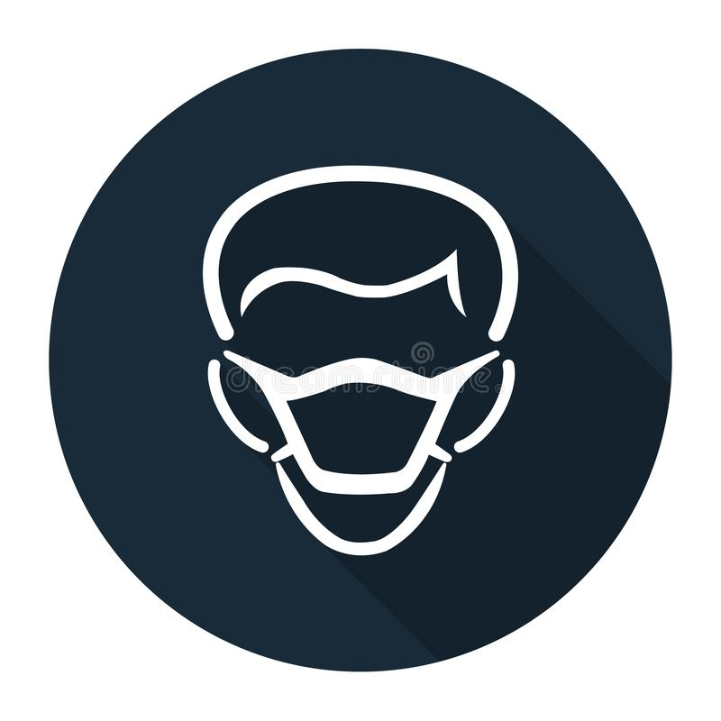 PPE Icon.Wear Mask Symbol Sign Isolate On White Background,Vector Illustration EPS.10 stock illustration
