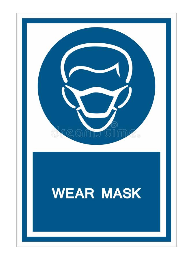 PPE Icon.Wear Mask Symbol Sign Isolate On White Background,Vector Illustration EPS.10. Face, protection, protective, safety, isolated, pollution, health stock illustration
