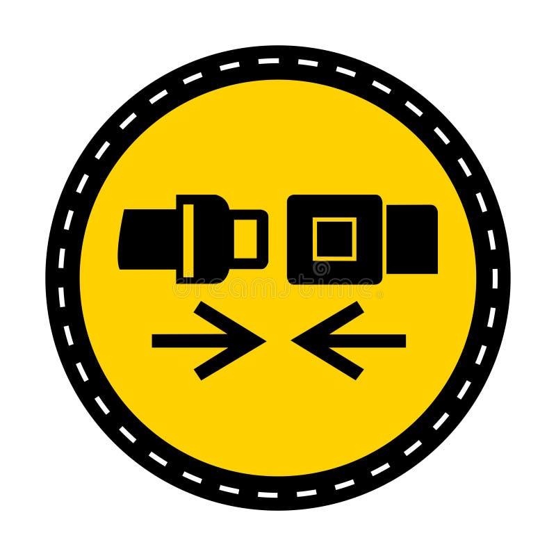 PPE ikona Odzież Zbawczego paska symbolu znak Odizolowywa Na Białym tle, Wektorowa ilustracja royalty ilustracja