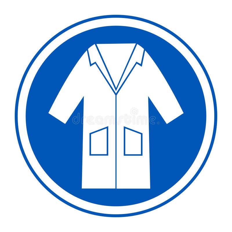 PPE ikona Odzieży bluzy symbolu znak Odizolowywa Na Białym tle, Wektorowa ilustracja EPS 10 royalty ilustracja