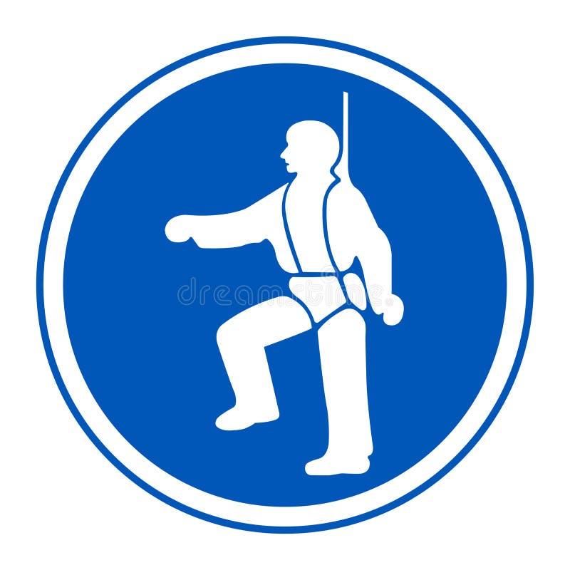 PPE ikona Zbawcza nicielnica Musi Być Przetartymi symbolami Wektorowa ilustracja EPS, znak Odizolowywa Na Białym tle 10 royalty ilustracja
