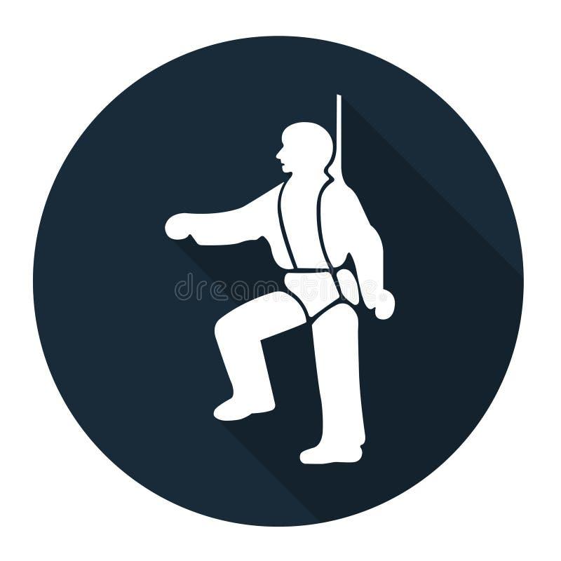 PPE ikona Zbawcza nicielnica Musi Być Przetartymi symbolami Wektorowa ilustracja EPS, znak Odizolowywa Na Białym tle 10 ilustracji
