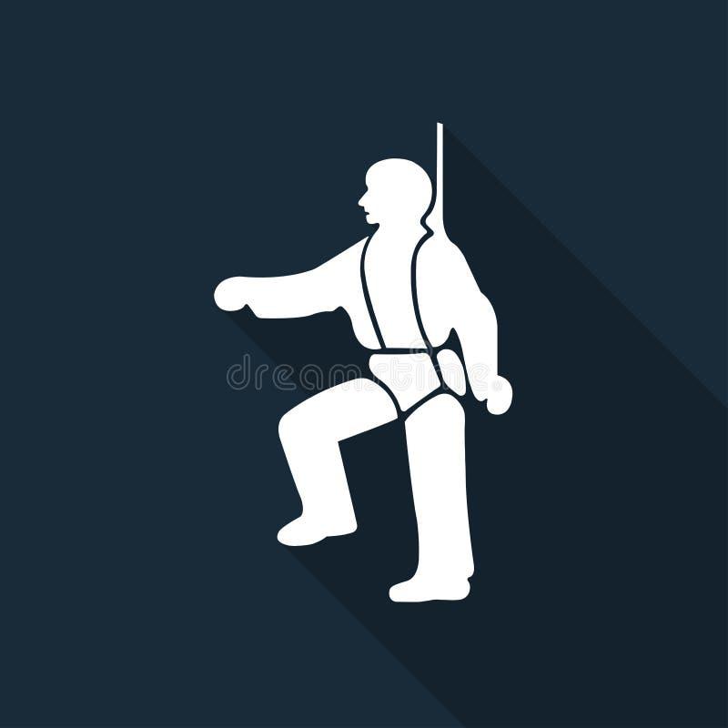 PPE ikona Zbawcza nicielnica Musi Być Przetartymi symbolami Wektorowa ilustracja, znak Odizolowywa Na Czarnym tle ilustracja wektor