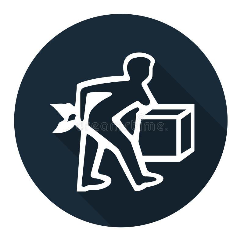 PPE pictogram Het Teken van het lift correct Symbool isoleert op Witte Achtergrond, Vectorillustratie EPS 10 vector illustratie