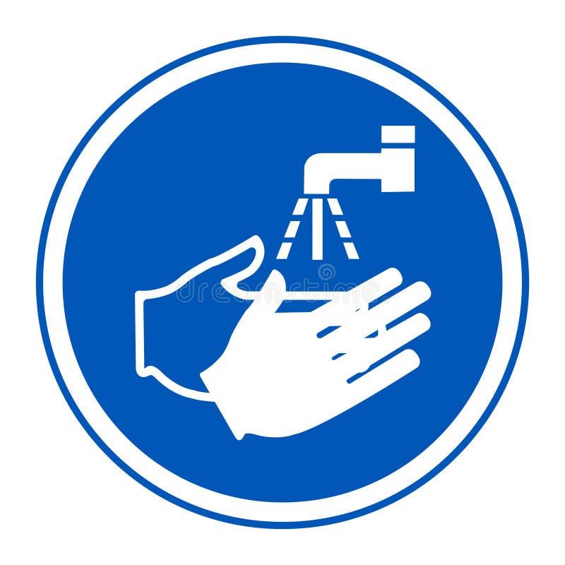 PPE pictogram Was Uw Handsymbool isoleren op Witte Achtergrond, Vectorillustratie EPS 10 vector illustratie