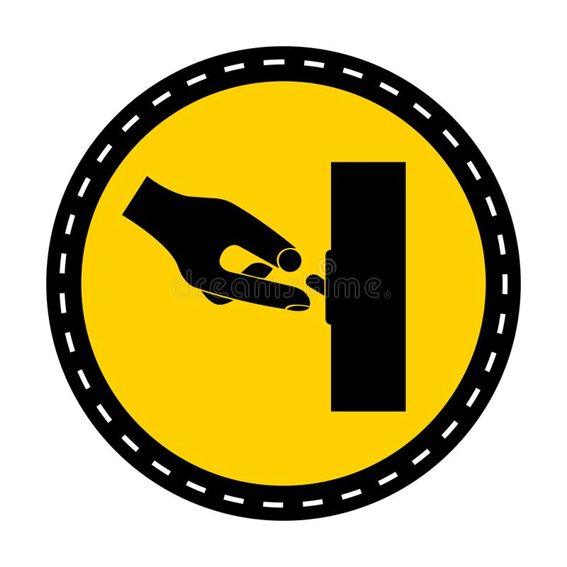 Ppe-symbol För strömbrytare för symboltecken av isolat på vit bakgrund, vektorillustration royaltyfri illustrationer