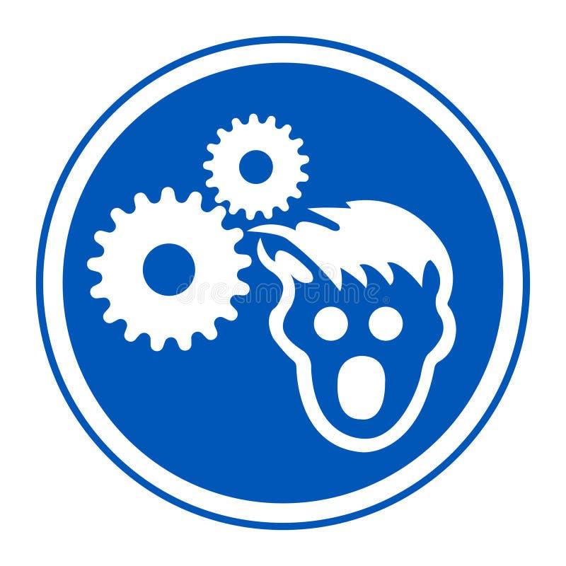 Ppe-symbol Isolat för tecken för kläderhårnätsymbol på vit bakgrund, vektorillustration EPS 10 stock illustrationer