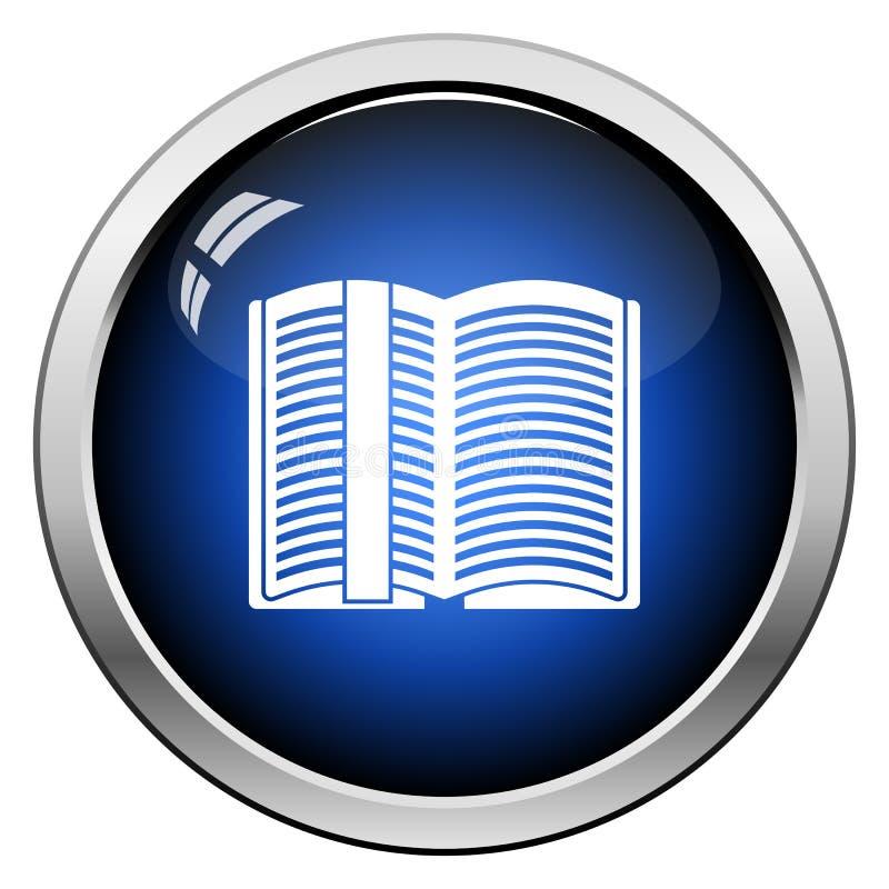 ?ppna boken med bokm?rkesymbolen royaltyfri illustrationer