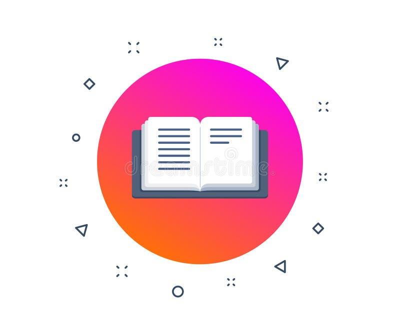 ?ppna boksymbolen Utbildnings- eller v?gledningstecken L?st anvisningsbok vektor vektor illustrationer