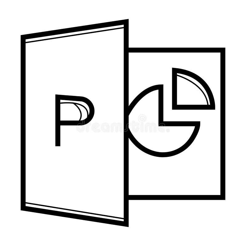 PPT-bestandsindeling royalty-vrije illustratie
