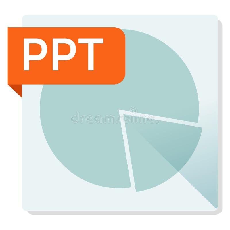 PPT-dokument Symbol för fyrkant för mappformat stock illustrationer