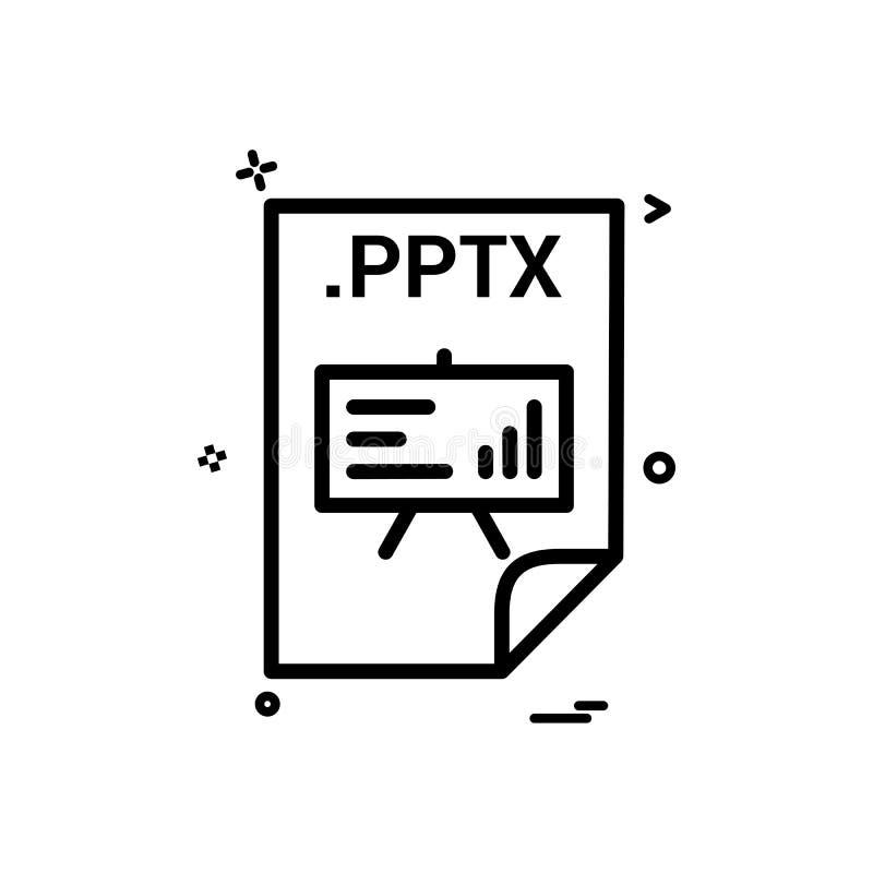PPTX应用下载文件文件格式象传染媒介设计 皇族释放例证