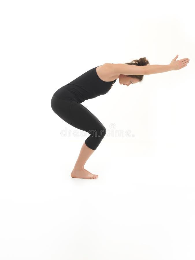 Práctica de la yoga para el principiante foto de archivo libre de regalías