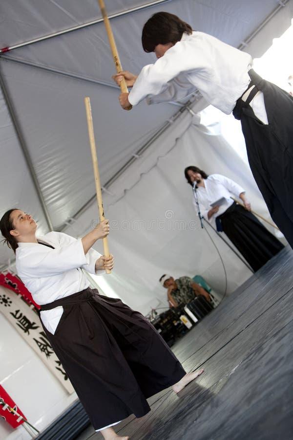 Práctica de Shinkendo foto de archivo libre de regalías