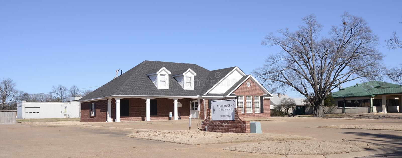 Práctica médica de la familia, Memphis Arkansas del oeste imagen de archivo libre de regalías
