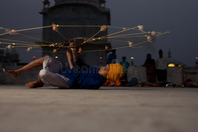 Práctica sikh de la red de la juventud fotografía de archivo libre de regalías