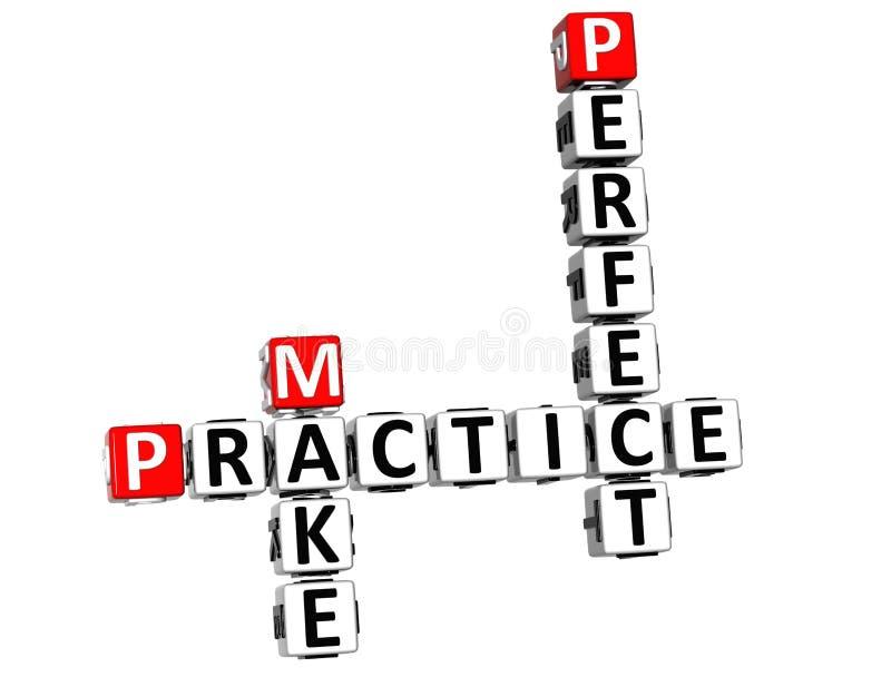 a prática 3D faz palavras cruzadas perfeitas ilustração royalty free