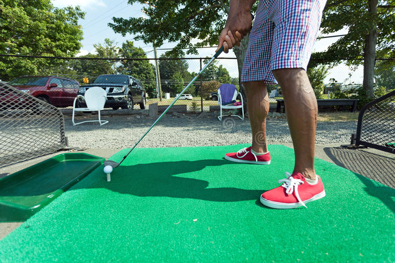 Prática do golfe do driving range foto de stock royalty free