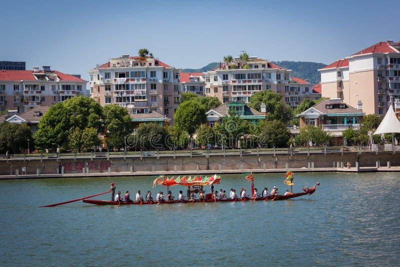 Prática para Dragon Boat Festival Race foto de stock royalty free