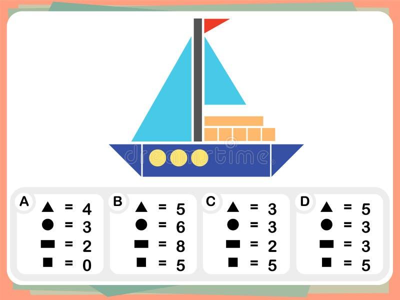 A prática questiona a folha para a educação e o teste do Q.I. ilustração royalty free