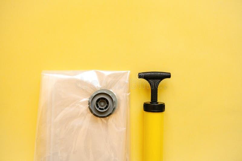 Próżniowa pompa dla próżniowych toreb zdjęcie royalty free