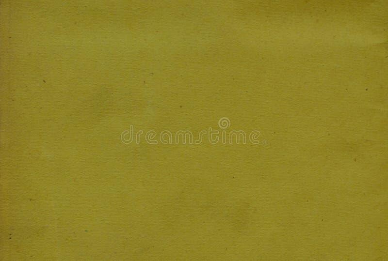 Prägeartige Beschaffenheit auf gelbem Papier Weinlese und Retro- Motiv stockfotografie