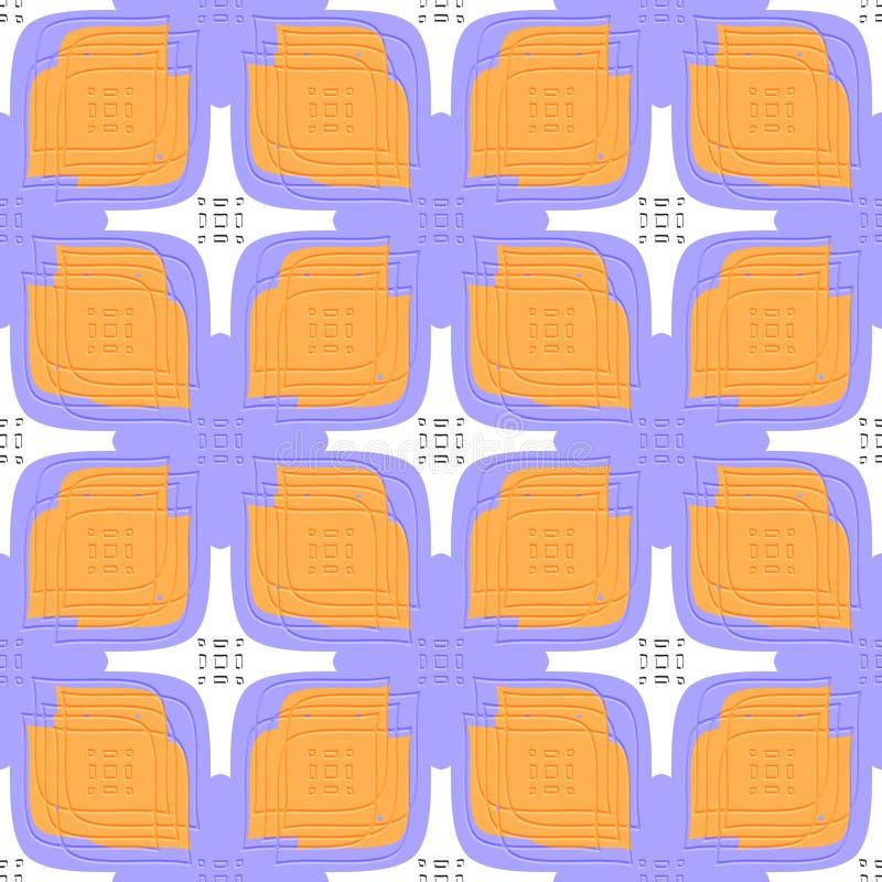 Prägeartige lineare Blätter purpurrot und orange nahtloses lizenzfreie abbildung