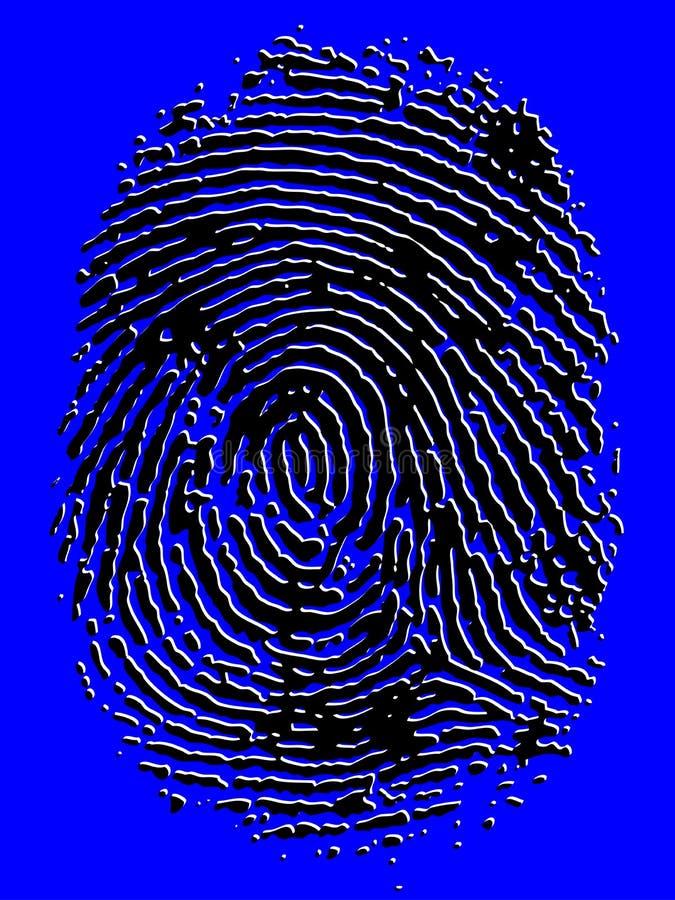 Prägeartiger Vektor-Fingerabdruck stockfotografie