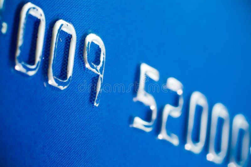 präglad för kortkreditering arkivbild