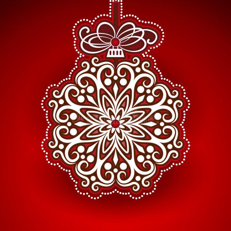 Präglad julstruntsak vektor illustrationer