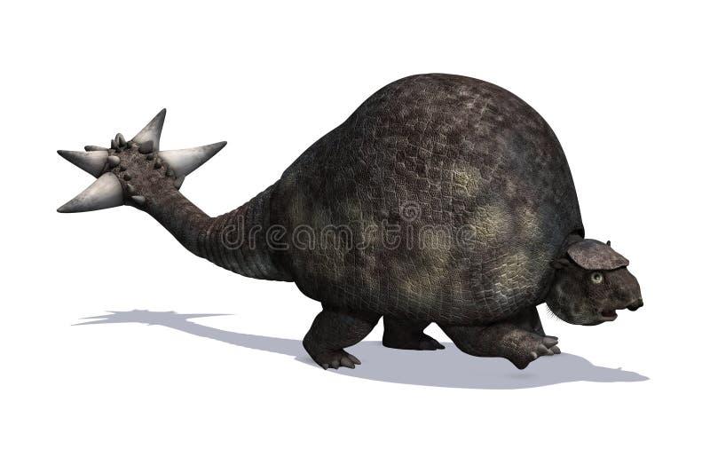 Prähistorisches Tier Doedicurus stock abbildung
