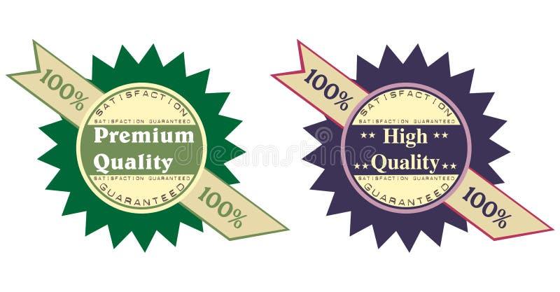 Prämien- und Qualitätsabzeichen vektor abbildung