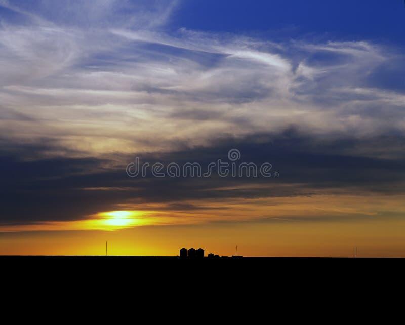 Prärier - solnedgång arkivbilder