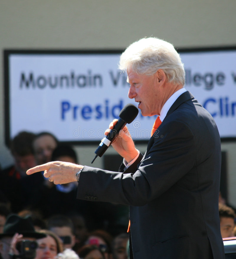 Präsident Bill Clinton stockfotos