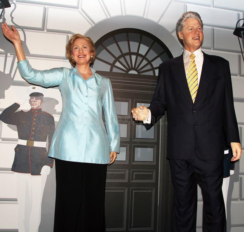 Präsident Bill Clinton und Hillary Clinton stockfotos