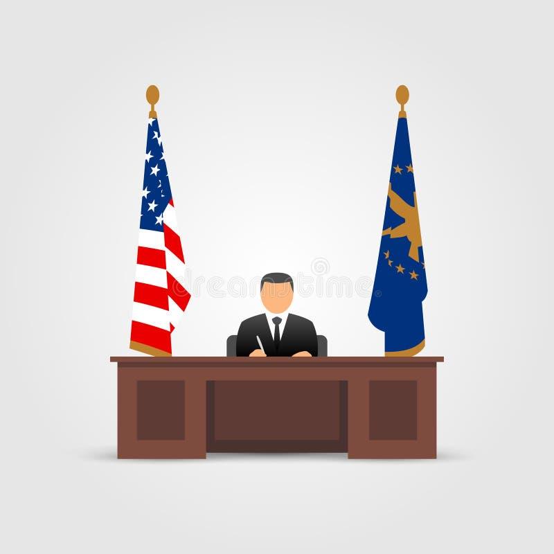 Präsident im ovalen Büro lizenzfreie abbildung