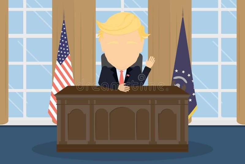 Präsident im Weißen Haus vektor abbildung
