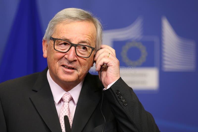 Präsident Jean-Claude Juncker der Europäischen Kommission stockfoto