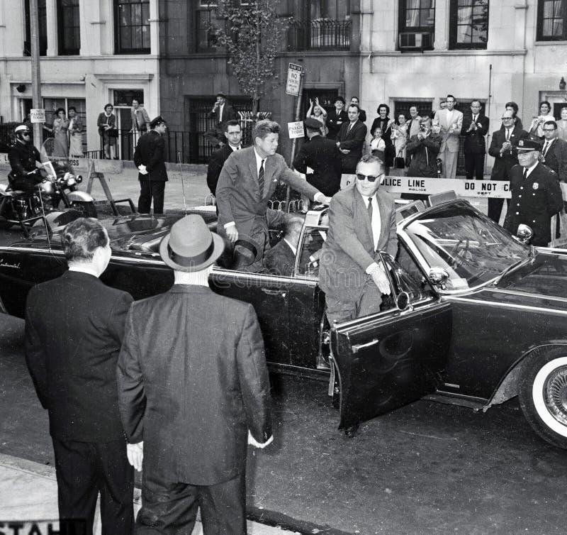 Präsident John F Kennedy In NYC stockfotografie