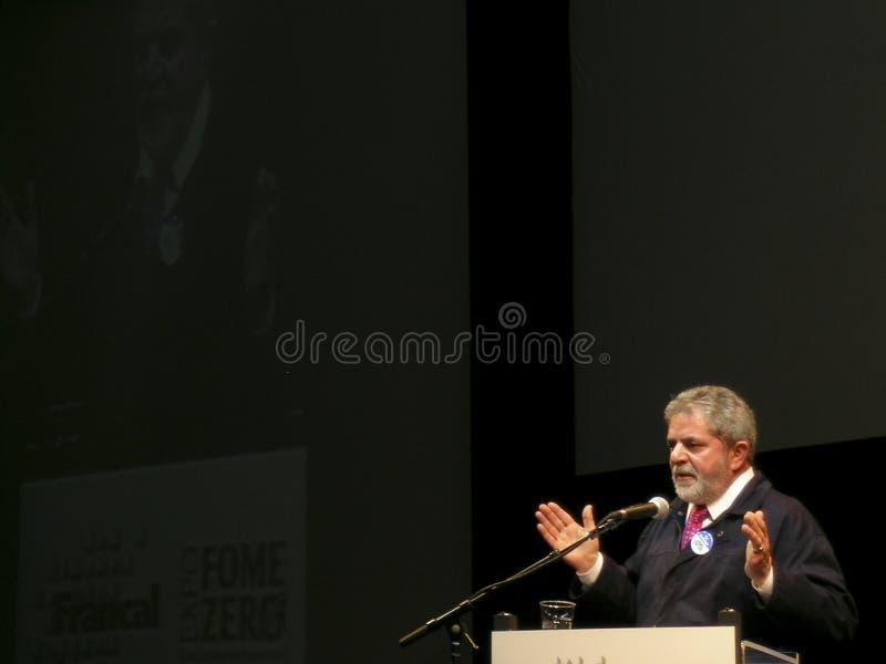 Präsident Lula lizenzfreies stockfoto