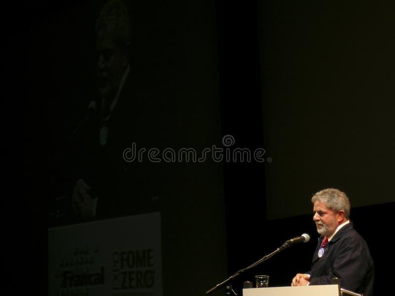 Präsident Lula stockfotografie