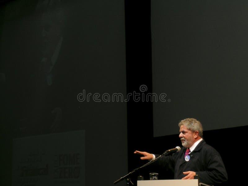 Präsident Lula lizenzfreie stockfotografie