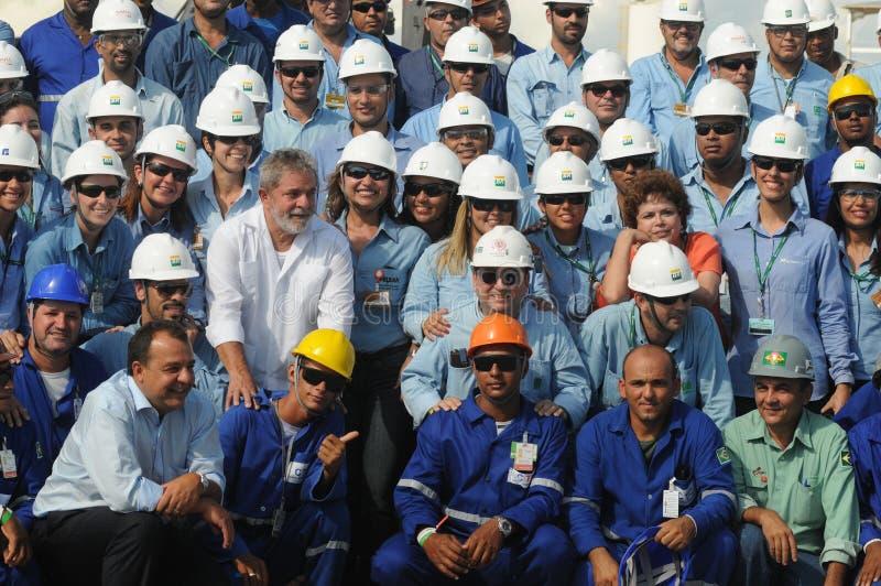 Präsident Lula, Präsident Dilma stockfotos