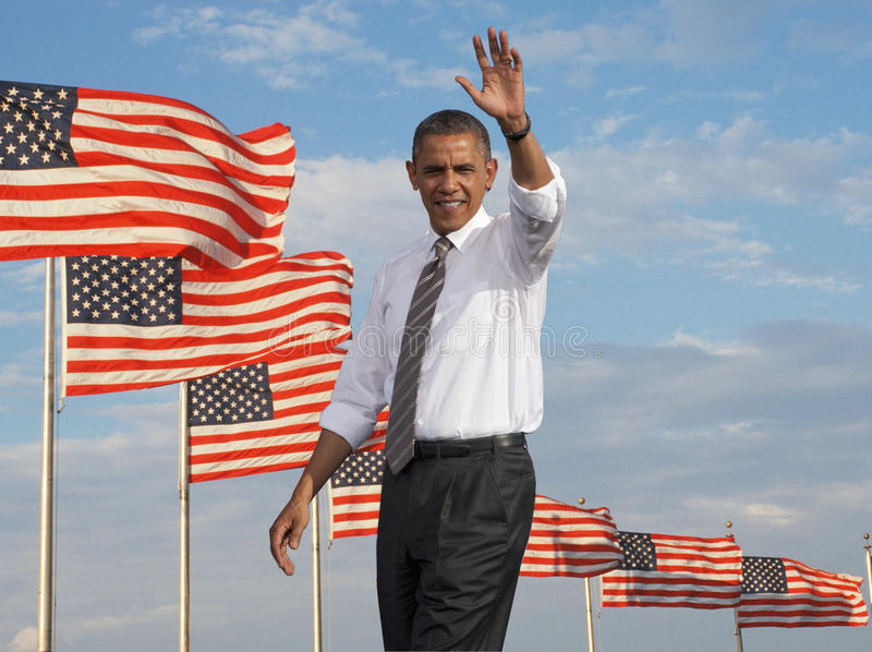 Präsident Obama Redaktionelles Stockfotografie