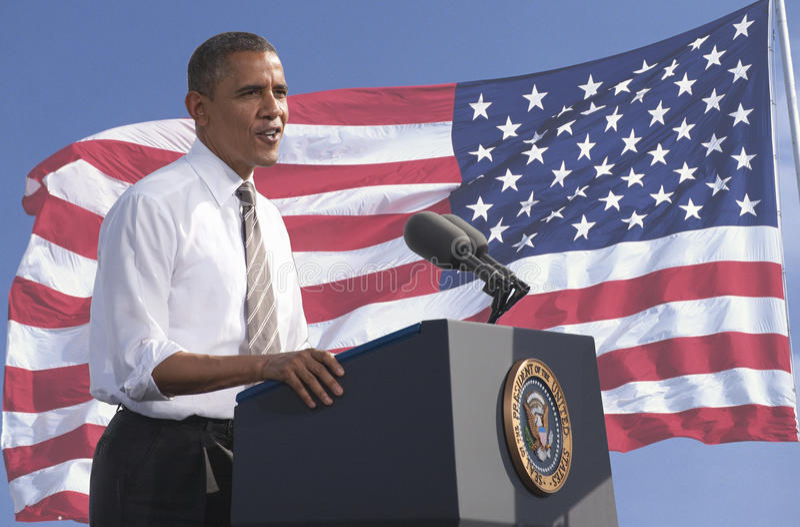 Präsident Obama Redaktionelles Foto